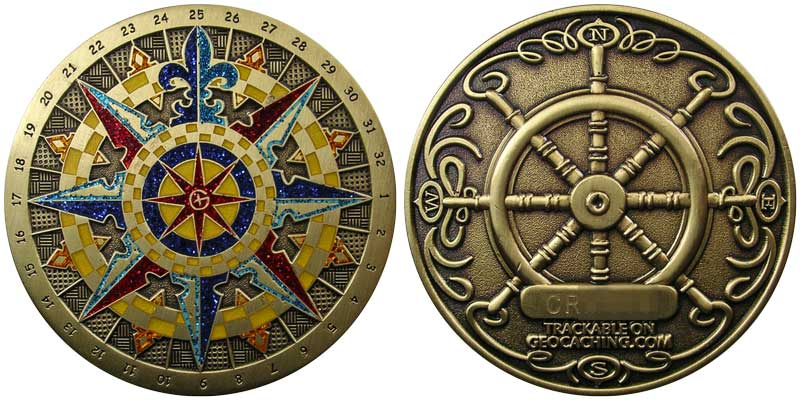 Compass Rose 2007 (Ant. Gold)