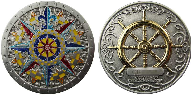 Compass Rose 2007 (Ant. Silver)