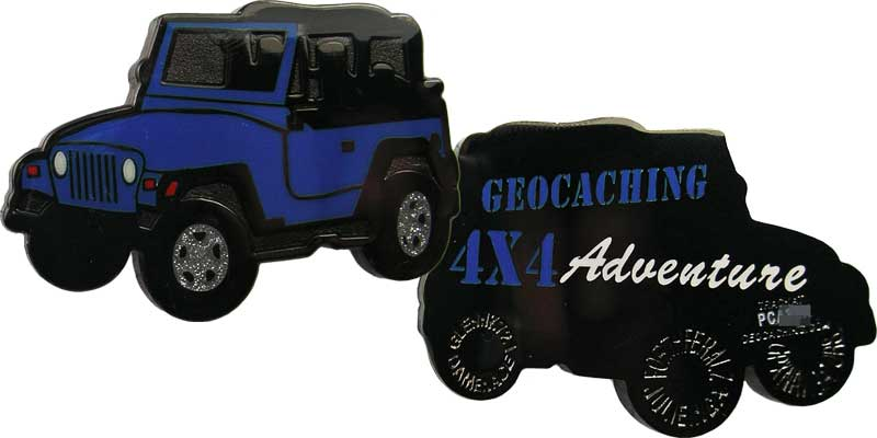 Jeep Geocaching - Blue