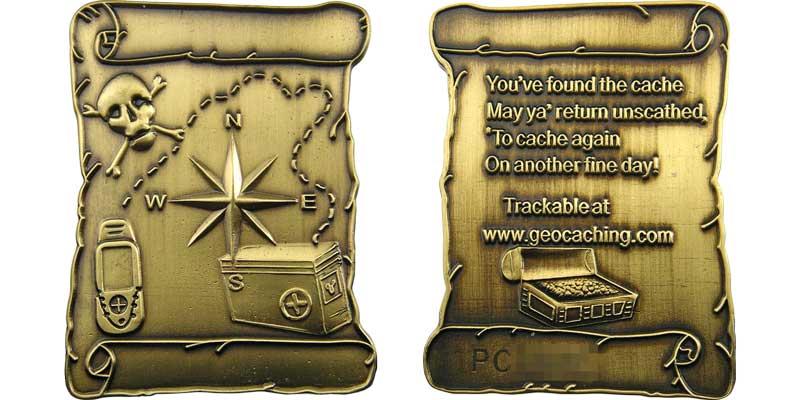 Pirate Treasure Map (Gold)