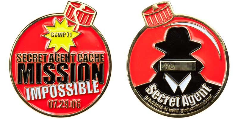 Secret Agent Cache Mission Impossible (Red)